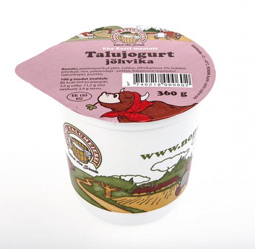 talu jogurt jõhvika
