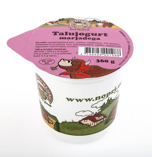 nopri talu jogurt marjadega